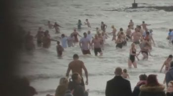 Broadstairs Beach New Years Dip